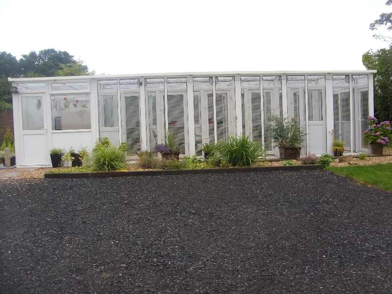 This is the front of orchard cottage cattery near Darlington, showing the view that your cat will have.